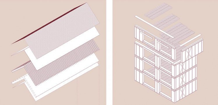 All of the buildings within our masterplan share the same simple pitched roof form.
